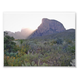 Impression Photo Lever de soleil sur le Chisos, parc national de