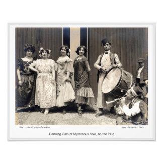 Impression Photo LPE17 - Filles de danse de l'Asie mystérieuse