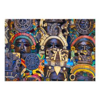 Impression Photo Masques en bois maya à vendre