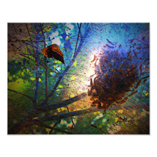 Impression Photo Mauvais vers dans les arbres