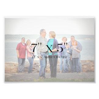 Impression Photo MODÈLE des photos de famille 7x5