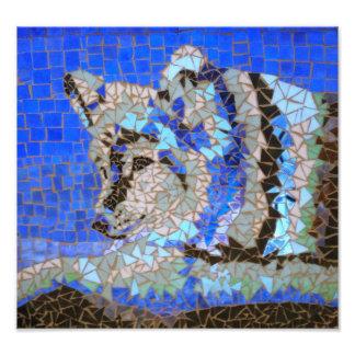 Impression Photo Mosaïque de loup