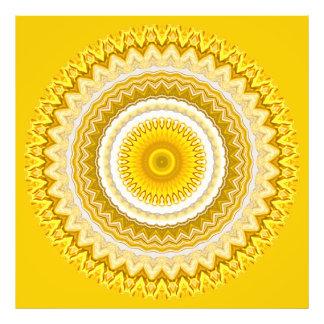 Impression Photo Motif jaune de mandala de jonquille (XL)