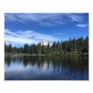 Impression Photo Mt. Capot et lac mirror en Orégon