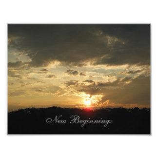 Impression Photo Nouveau lever de soleil de débuts