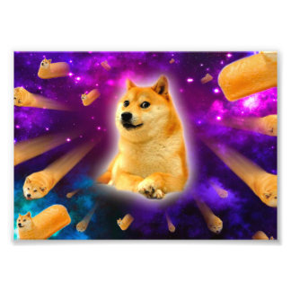 Impression Photo pain - doge - shibe - l'espace - wouah doge