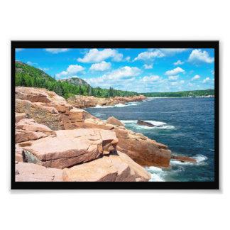 Impression Photo Parc national Maine d'été d'Acadia rocheux de