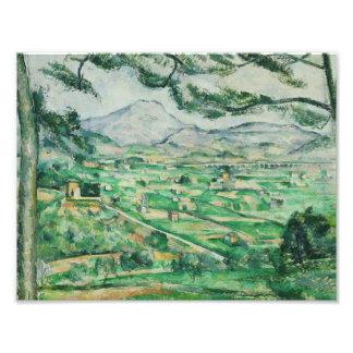 Impression Photo Paul Cezanne - Mont Sainte-Victoire