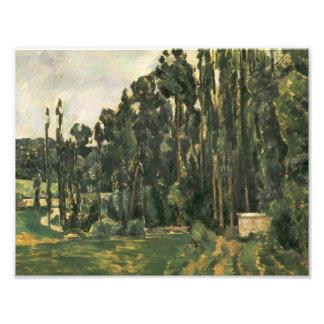 Impression Photo Paul Cezanne - peupliers