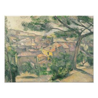 Impression Photo Paul Cezanne - vue de matin de L'Estaque contre