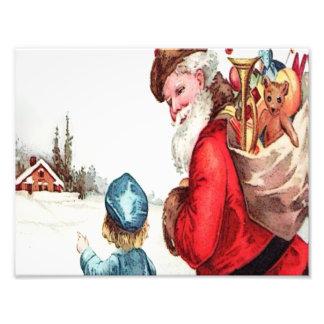 Impression Photo Père Noël vintage