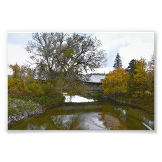 Impression Photo Pont couvert de Sanborn, Lyndon, Vermont