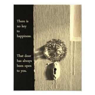 Impression Photo Porte vintage à la copie de bonheur