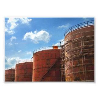 Impression Photo réservoir de stockage de pétrole