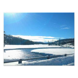 Impression Photo Rivière d'hiver dans Yellowstone