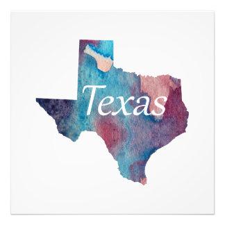 Impression Photo Silhouette du Texas