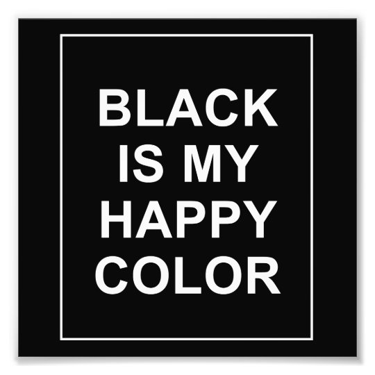 IMPRESSION PHOTO SKAM - BLACK IS MY HAPPY COLOR