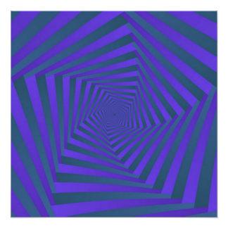 Impression Photo Spirale bleue et pourpre du Pentagone