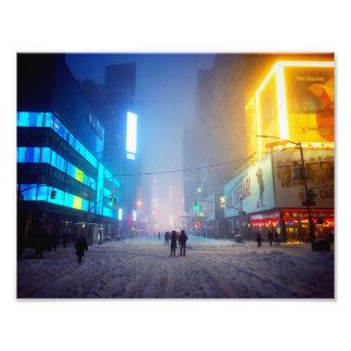 Impression Photo Tempête de neige dans le Times Square