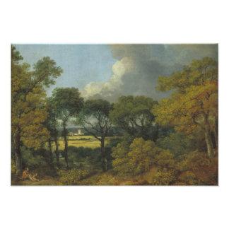 Impression Photo Thomas Gainsborough - paysage boisé