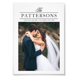 Impression Photo Typographie élégante personnalisée épousant la