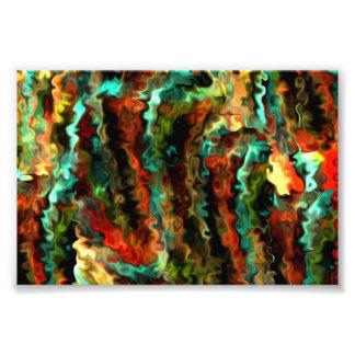 Impression Photo Un art moderne abstrait onduleux plus futé 1,5