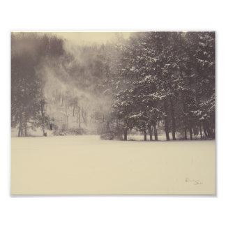 Impression Photo Vent de neige