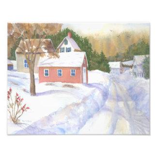 Impression Photo Vue d'hiver de Sheepscott Maine