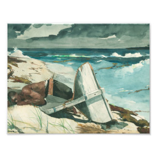Impression Photo Winslow Homer - après l'ouragan, Bahamas