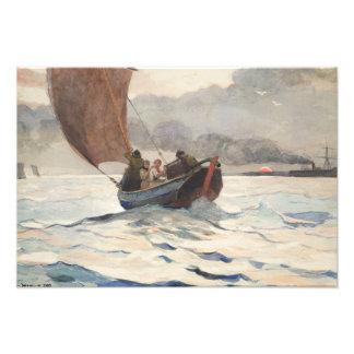 Impression Photo Winslow Homer - bateaux de pêche de renvoi