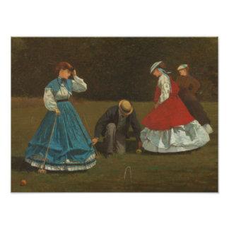 Impression Photo Winslow Homer - scène de croquet