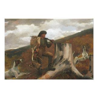 Impression Photo Winslow Homer - un chasseur et chiens