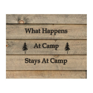 Impression Sur Bois 10x8 ce qui se produit aux séjours de camp au camp