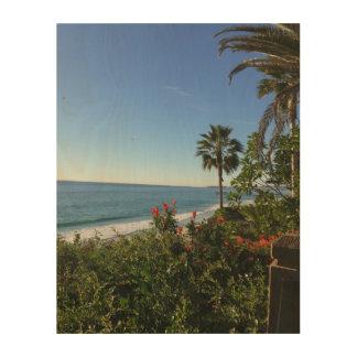 """Impression Sur Bois 11"""" x 14"""" plage de San Clemente"""