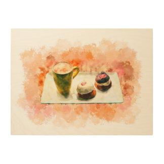 """Impression Sur Bois 24"""""""" café x18 et bonbons peignant l'art en bois de"""