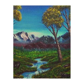 Impression Sur Bois Abrégé sur montagne rocheuse