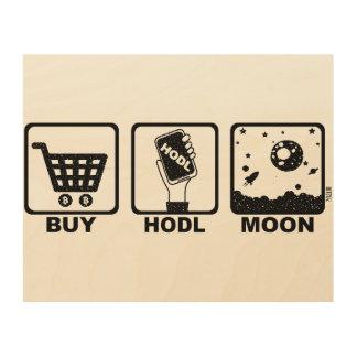 Impression Sur Bois Achetez la lune de Hodl