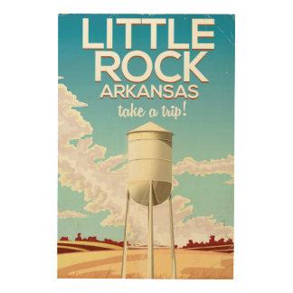 Impression Sur Bois Affiche de voyage de Little Rock Arkansas