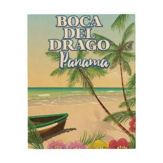 Impression Sur Bois Affiche de voyage de plage de Boca del Drago