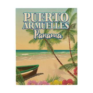 Impression Sur Bois Affiche de voyage de plage de Puerto Armuelles