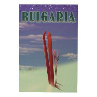Impression Sur Bois Affiche de voyage de ski de la Bulgarie
