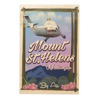 Impression Sur Bois Affiche de voyage du Mont Saint Helens Washington