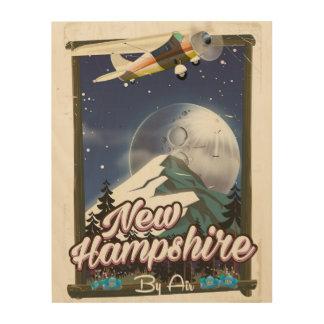 Impression Sur Bois Affiche de voyage du New Hampshire, Washington de