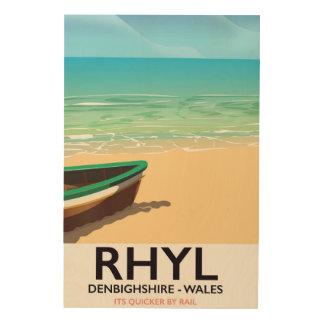 Impression Sur Bois Affiche vintage de chemins de fer de Rhyl