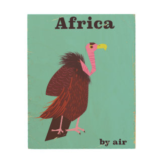 Impression Sur Bois Affiche vintage de transports aériens de vautour