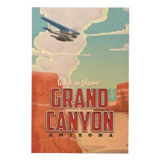 Impression Sur Bois Affiche vintage de voyage de canyon grand