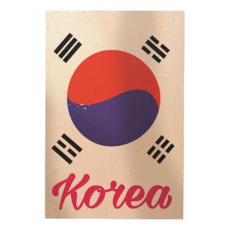 Impression Sur Bois Affiche vintage de voyage de la Corée du Sud