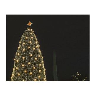 Impression Sur Bois Arbre de Noël et monument de Washington nationaux