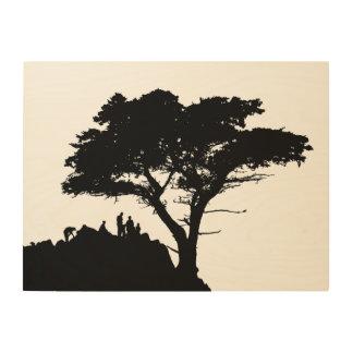 Impression Sur Bois ARBRE GÉNÉALOGIQUE vintage de grand arbre de