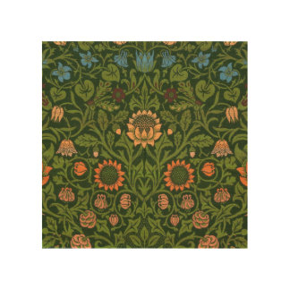 Impression Sur Bois Asiatique vert rouge de tapis de couverture de
